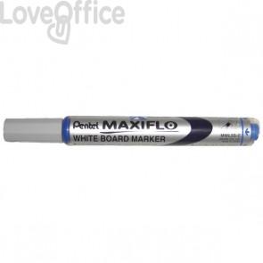 Pentel Pennarello per lavagna blu - Maxiflo - tonda - 4 mm