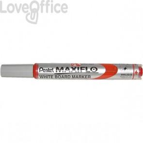 Pentel Pennarello per lavagna rosso - Maxiflo - tonda - 4 mm