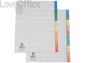Divisori neutri Q-Connect tasti colorati 5 fogli KF01834