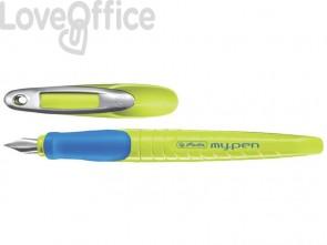 Penna stilografica Herlitz My.pen M giallo/blu 10999779