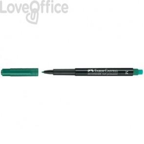 Marcatore Faber-Castell Multimark 1525 M 1 mm verde 152563