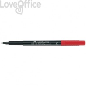 Marcatore Faber-Castell Multimark 1525 M 1 mm rosso 152521