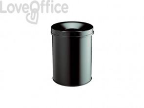 Cestino gettacarte DURABLE SAFE 15 acciaio nero 330501