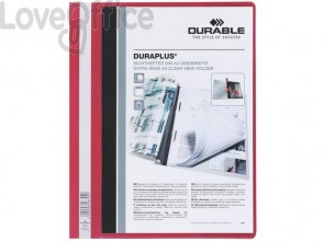 Cartelline ad aghi DURABLE DURAPLUS® A4 rosso 257903 (conf.25)