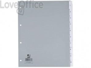 Divisore personalizzabile Q-Connect grigio 24,5x29,7 cm ppl 10 pagine KF01853