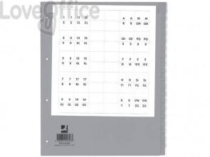 Divisore neutro Q-Connect grigio XL 24x29,7 cm ppl 20 fogli KF01856