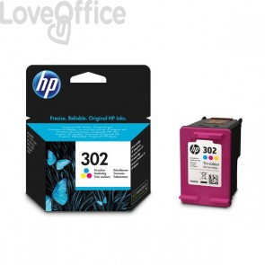 Cartucce inkjet Originali HP 302 3 colori - 165 pagine - F6U65AE