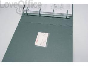 Tasche adesive portabiglietti Q-Connect ppl 60x95 mm trasparente apertura lato lungo - KF27039 (conf.10)