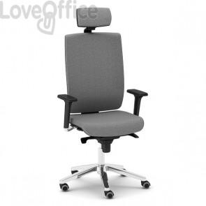 Poltrona ufficio ergonomica KIND UNISIT - pelle - GRIGIO - KIPGT/PT