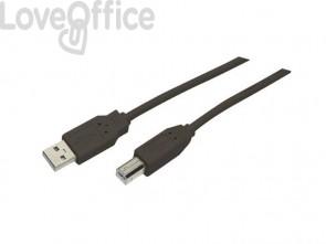 Cavo di collegamento Media Range USB 2.0 A/B nero MRCS101