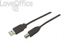 Cavo di collegamento Media Range USB 2.0 A/B nero MRCS103