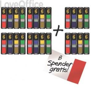 Post-it® Index Mini con dispenser rosso,verde, blu, giallo VALUE PACK 4+2 - 683- 4+2