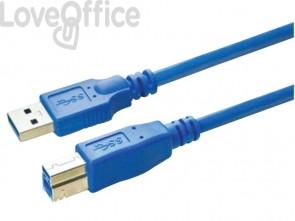 Cavo di collegamento Media Range USB 3.0 AM/BM blu MRCS144