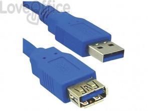 Cavo di prolunga Media Range USB 3.0 A/A 1,8m blu MRCS151