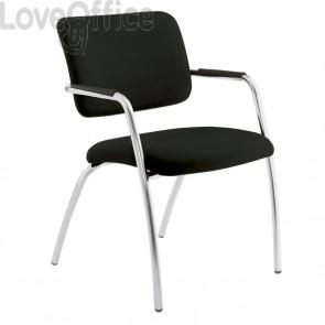sedia da attesa nera ignifuga modello LITHIUM