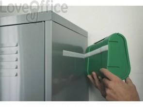 Nastri adesivi in tela tesa velcro On&Off universale autoadesivo bianco 20 mm x 2,5 mm - 55225-00002-01