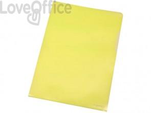 Cartellina a L Q-Connect ppl ecologico A4 giallo conf. da 100 - KF00308