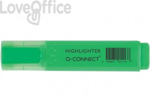 Evidenziatore Q-Connect 1,5-2 mm verde  KF01113