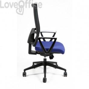 Sedia ufficio ergonomica semidirezionale NEREIDE UNISIT - ignifugo - BLU - NDAE/IB