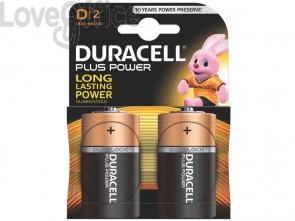 Batterie alcaline Duracell Plus Power Torcia 1300 mAh D conf. da 2 - DU0400