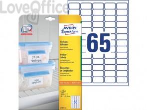 Etichette per freezer AVERY 38,1 x 21,1mm 25 fogli - L7971-25