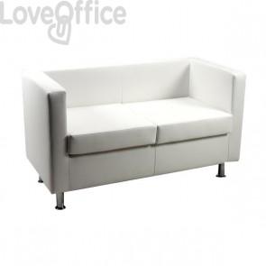 Divanetto attesa - divano 2 posti in similpelle - PRAGMA UNISIT - BIANCO - PR2/KQ