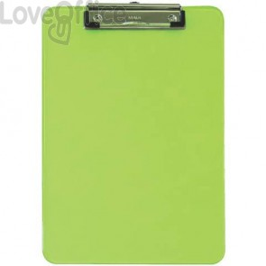 Portablocchi con clip MAUL verde trasparente 2340651