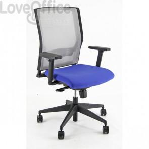 Sedia ergonomica semidirezionale X RAY UNISIT - polipropilene - BLU