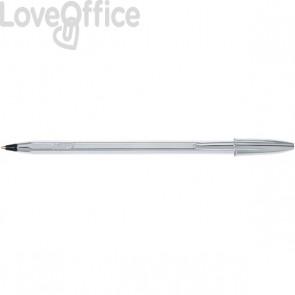 Penne a sfera Cristal Shine Bic - argento - nero (conf.20)