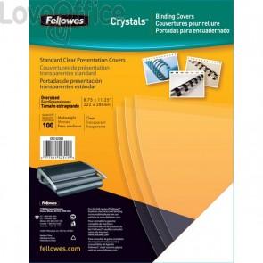Copertine in PVC per rilegatura Fellowes - A4 - 180 my - trasparente - 5375901 (conf.100)