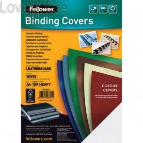 Copertine cartoncino per rilegatura Fellowes - A4 - goffrato - 250 my - rosso scuro - 5371603 (conf.100)