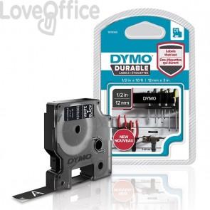 Etichette Dymo D1 Durable Dymo - 12 mm x 3 m - bianco/nero - 1978365
