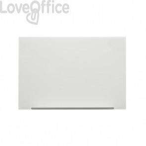 Lavagna magnetica in vetro linea Diamond Nobo - bianco - 71,1x126 cm