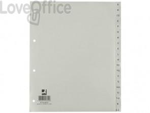 Divisori alfabetici Q-Connect A-Z 24,5x29,7 cm grigio 20 pagine KF01844