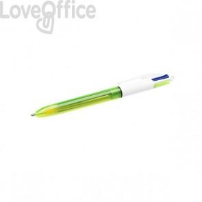 Penna a sfera 4 colori Fluo Bic - 933948