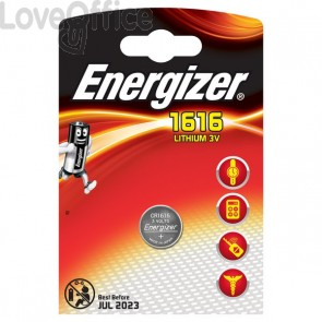 Batteria al litio a bottone ENERGIZER CR1616 - E300163700