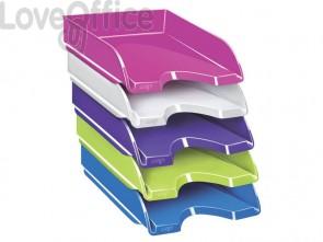 Vaschetta portacorrispondenza CepPro Gloss CEP in polistirolo impilabile in verticale o a scalare bianco- 1002000021