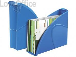 Portariviste CepPro Gloss CEP in polistirene utilizzabile in formato vert. e orizz. blu oceano - 1006740351