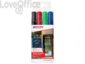 Marcatori a gesso liquido edding 4095 punta conica 2-3 mm assortiti - 4-4095-4999 (conf.4)