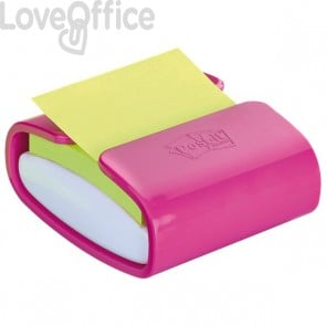 Dispenser ricaricabile per foglietti Post-it® Z-Notes PRO - 76x76 mm - bianco e fucsia - PRO-C-1SSC-EU