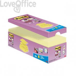 "Foglietti Post-it® Super Sticky a ""Z"" Value Pack - 76x76 mm - giallo Canary™ - R330-SSCY-VP20 (conf.20)"