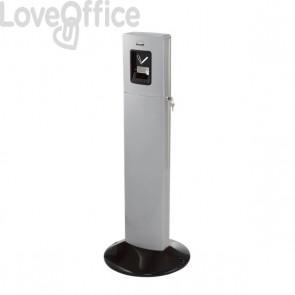 Posacenere Metropolitan Rubbermaid - alluminio smoke - H 109 cm  - 43 Ø  cm  - FGR93400SM