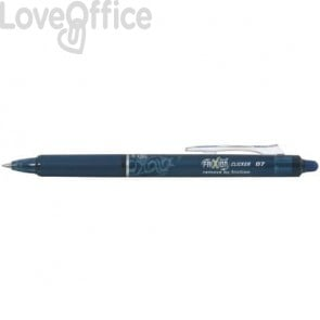 Penna a sfera cancellabile Pilot Frixion Clicker 0,7 mm blu scuro 6789