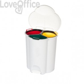 Cestino raccolta differenziata Trio Pedal Bin Rubbermaid - 48x39x59 - 40 l - R050509