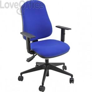 Sedia da ufficio girevole Marsiglia Unisit - polipropilene blu