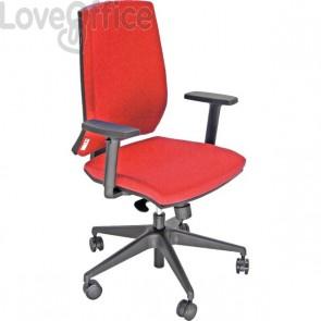 Seduta ergonomica Parigi UNISIT - rosso - rosso - LR1SE/ER