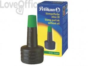 Inchiostro per timbri senza olio Pelikan flacone 28 ml verde 351239