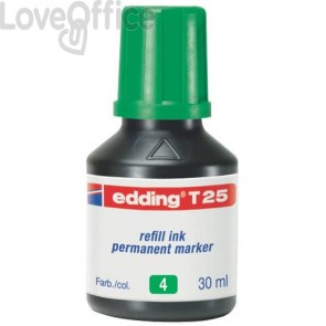 Inchiostro permanente per ricarica edding T 25 verde 4-T25004