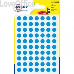 Etichette rotonde in bustina Avery - Blu - diam. 8 mm - PSA08B (420)