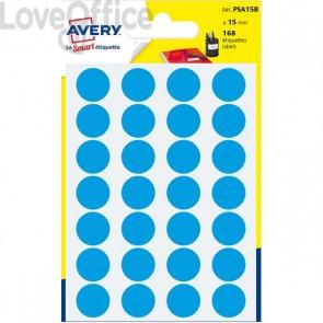 Etichette rotonde in bustina Avery - Blu - diam. 15 mm - PSA15B (168)